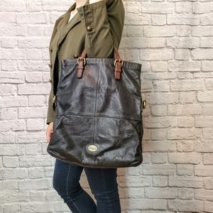 Fossil Foldover Leather Bag